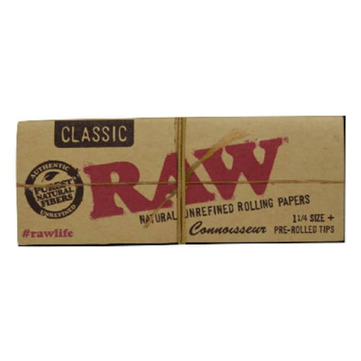 Raw Rolling Papers Organic Connoisseur 1 1/4 Tips - Cheap Vape Juice - East Coast Vape Distribution