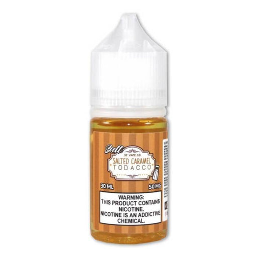 Salted Caramel Tobacco Nicotine Salt E-Liquid - Cheap Vape Juice - East Coast Vape Distribution