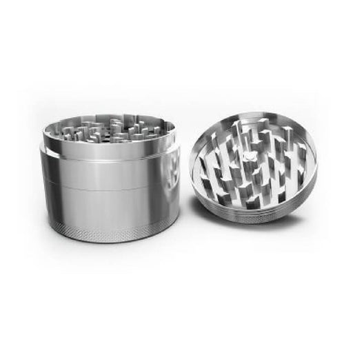 Small/Large Chrome Grinder - Cheap Vape Juice - East Coast Vape Distribution
