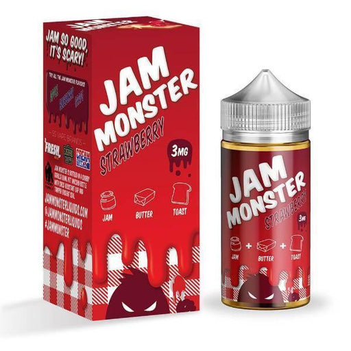 Strawberry by Jam Monster Liquids - Cheap Vape Juice - East Coast Vape Distribution