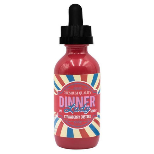 Strawberry Custard by Vape Dinner Lady E-Liquid - Cheap Vape Juice - East Coast Vape Distribution