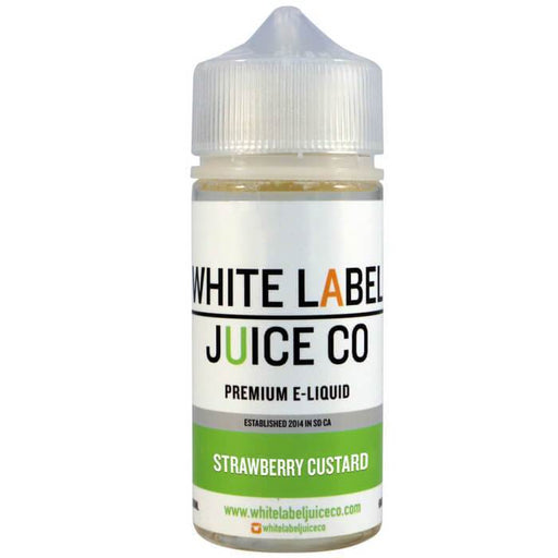 Strawberry Custard by White Label Juice Co - Cheap Vape Juice - East Coast Vape Distribution