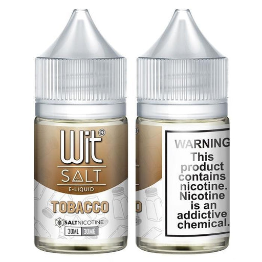 Tobacco by Wit Nicotine Salt E-Liquid - Cheap Vape Juice - East Coast Vape Distribution