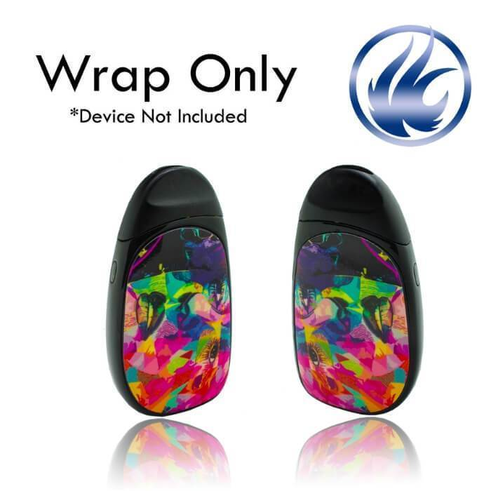 VCG Aspire Cobble Wraps: Watercolor Abstract - Cheap Vape Juice - East Coast Vape Distribution