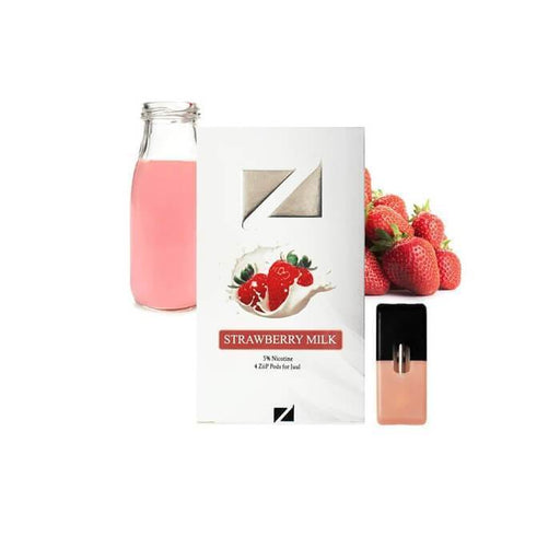 Ziip Pods Strawberry Milk - Cheap Vape Juice - East Coast Vape Distribution