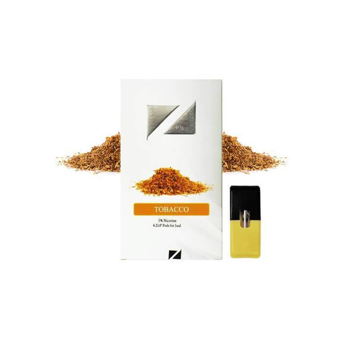 Ziip Pods Tobacco - Cheap Vape Juice - East Coast Vape Distribution
