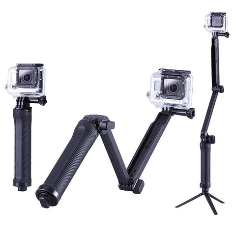 3-way Mount Stang for GoPro HERO12345 og session actionkamera