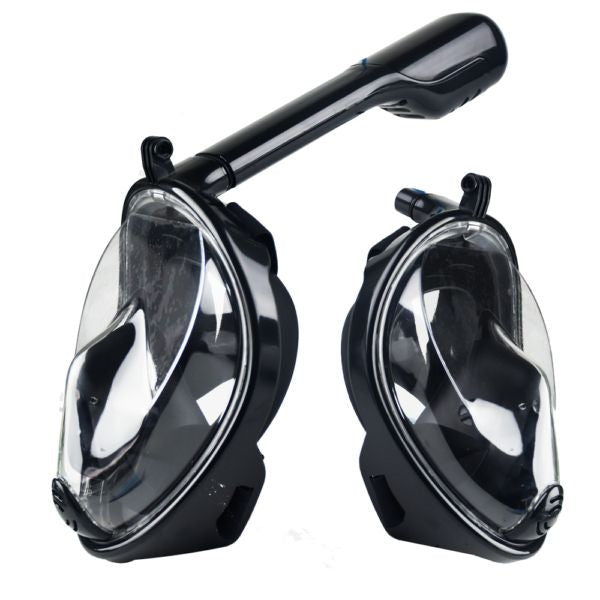 Full Face Silicone Snorkel Diving Mask 180 °, for alle typer GoPro