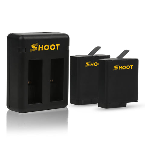GoPro HERO 6 & 5 Black SHOOT battery USB-C dual Charger AHDBT-501