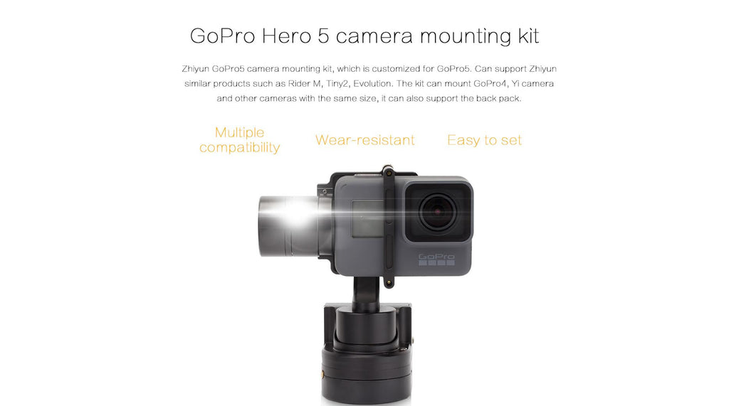 Adapter til Hero5 for Rider-m Gimbal