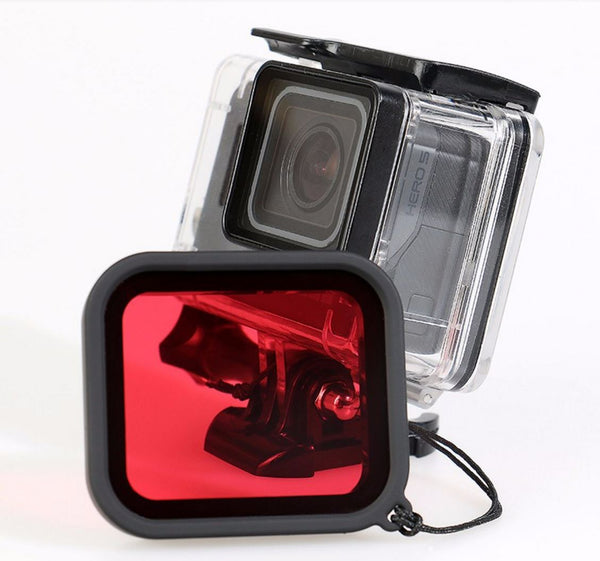 GoPro hero 5 black rødt red filter super suit case hus