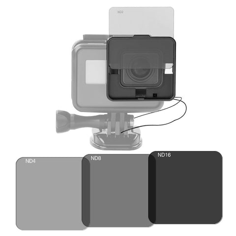 ND Filter set - GoPro Hero 5 - ND2/ND4/ND8/ND16 - square