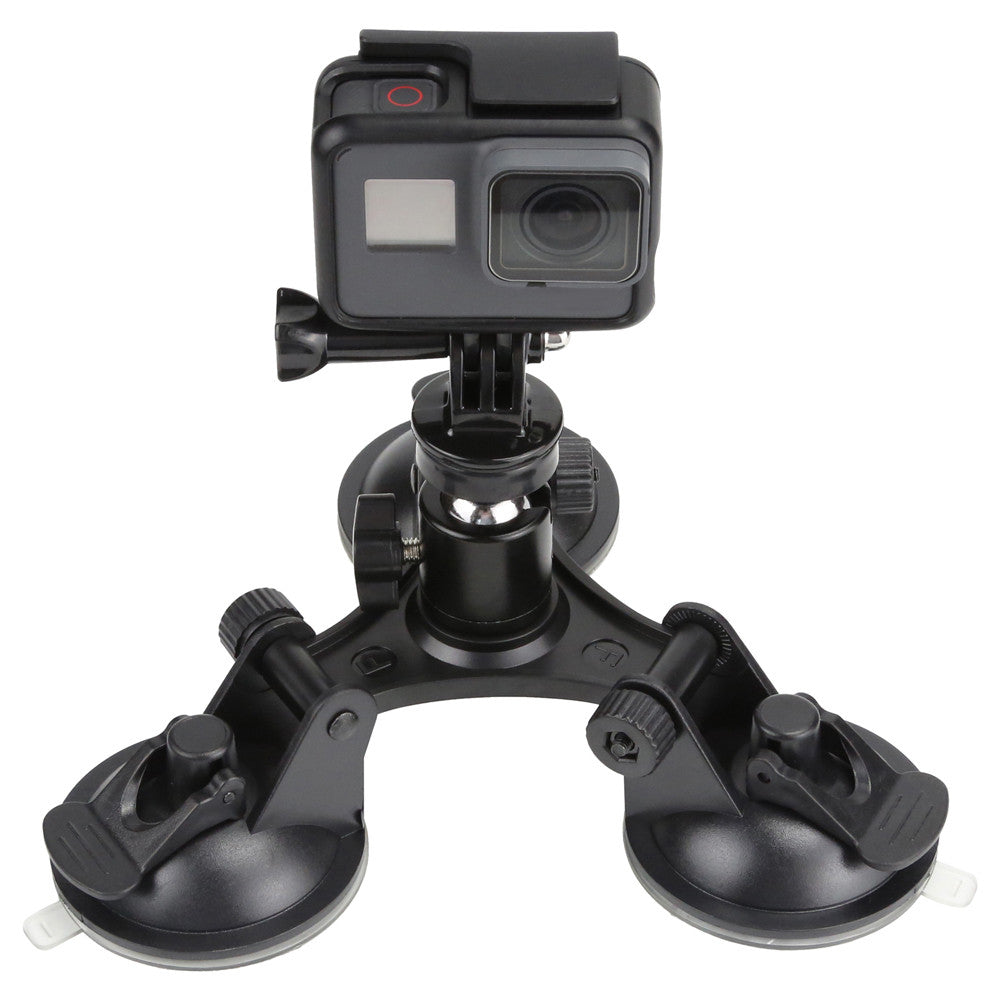 Triple Suction Cup med kuleledd - Justerbar 360°  - Low angle Sugekopp
