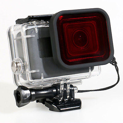 Red filter Gopro hero 5 supersuit case housing