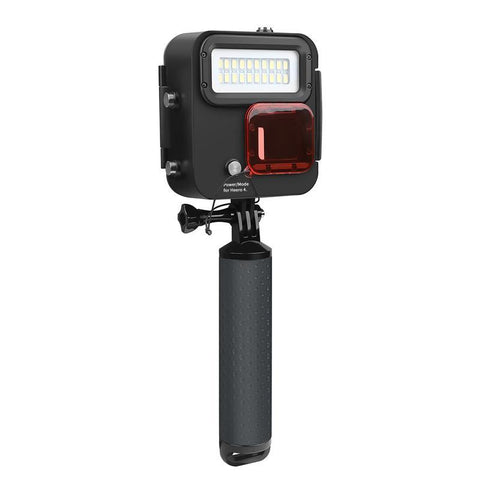 Dive LED light with filter and floaty bobber for GoPro Hero 6 5 4 3+