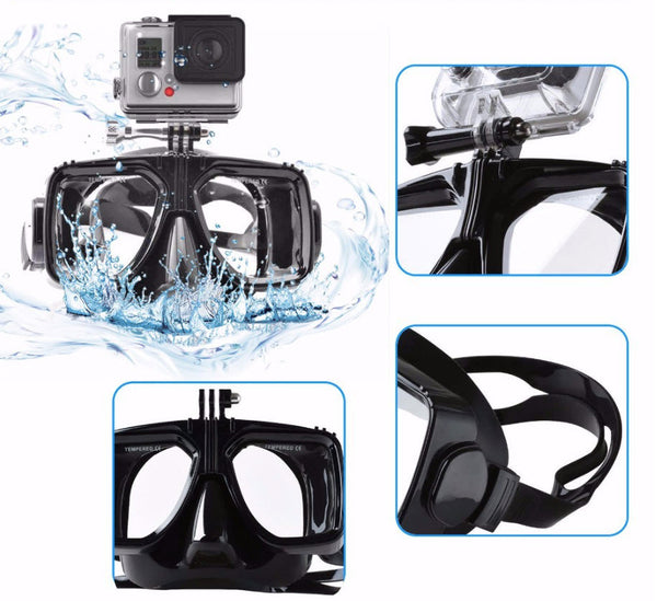 Diving mask for Gopro actioncam