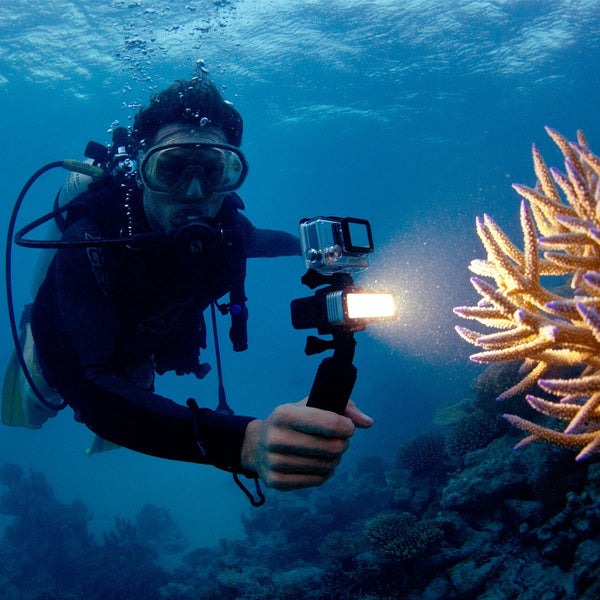 LED-lys for Gopro actionkamera - Perfekt for dykking/diving og andre utendørsaktiviteter