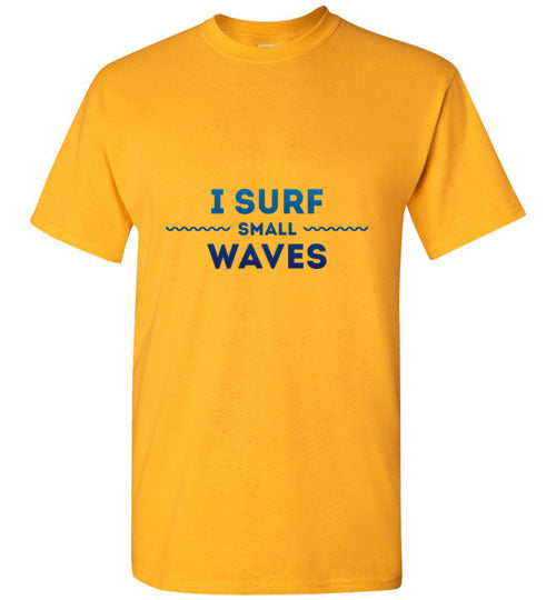 I surf small waves
