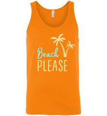 Beach PLEASE! Canvas Unisex Tank