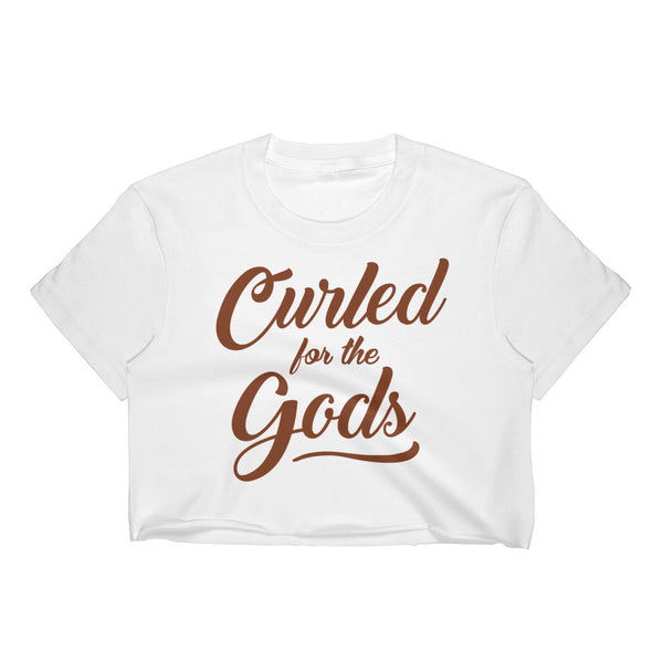 CURLED FOR THE GODS - Women's Crop Top (WHITE)