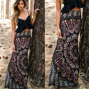 Tribal Floral Maxi Skirt