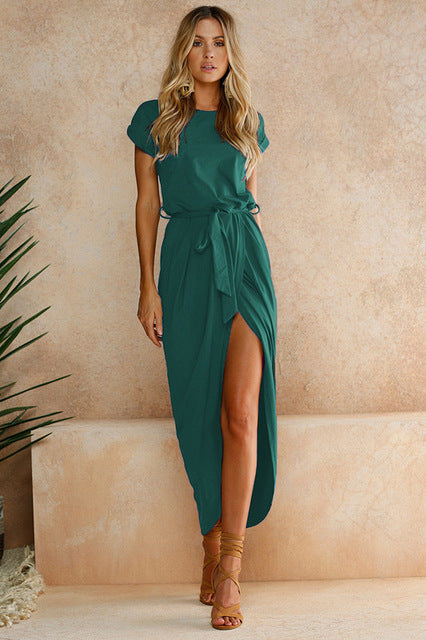Sashes Ankle Length Dress