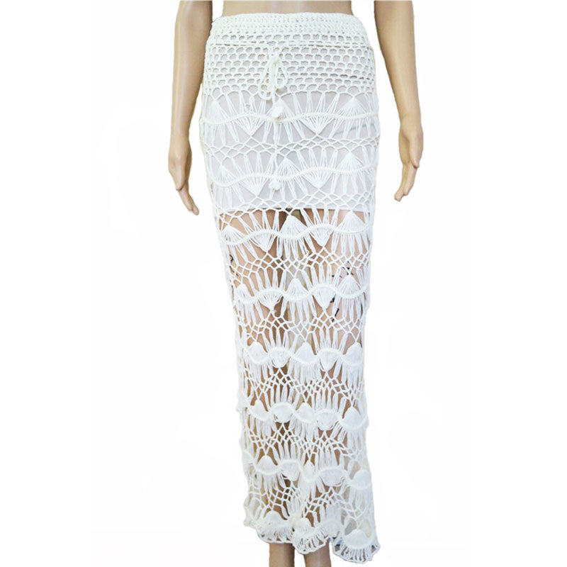 Knitted Lace Maxi Skirt