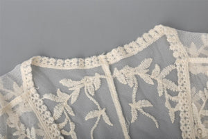 Lace Embroidered Floral Coverlet