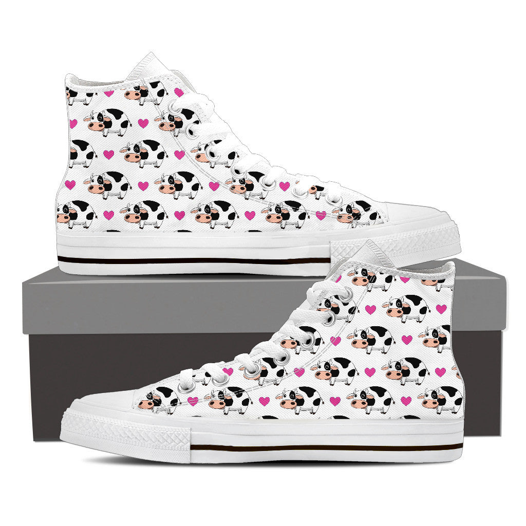 Cow & Heart Canvas Shoes