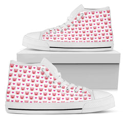 Pig Face High Top Canvas Shoes