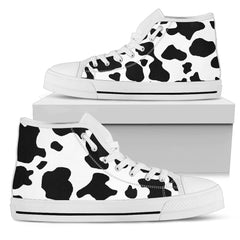 Cow Print High Top Canvas Shoes