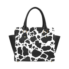 Cow Print Classic Shoulder Handbag Front
