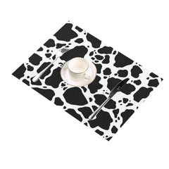 Cow Print Placemats side view