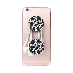 Cow Print Multi-function Cell Phone Stand earbud holder