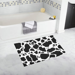 Cow print Bath Rug lifestyle