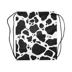 Cow Print Drawstring Bags Front