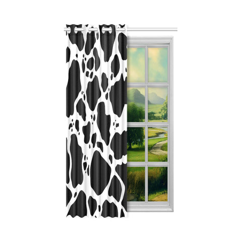 Cow Print Window Curtain - One Piece Lifestyle
