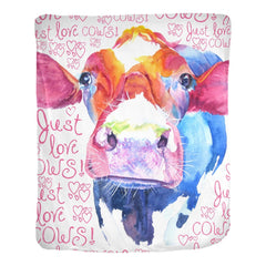 Just Love Cows Velveteen Blanket
