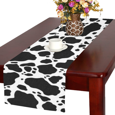 Cow Print Table Runner lifestyle