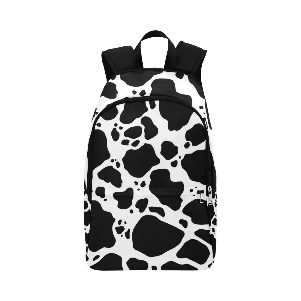 Cow Print Adult Casual Backpack Front