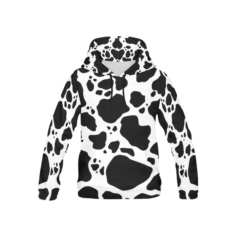 Cow Print Youth All Over Print Hoodie Front