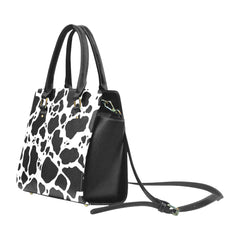 Cow Print Classic Shoulder Handbag Side View