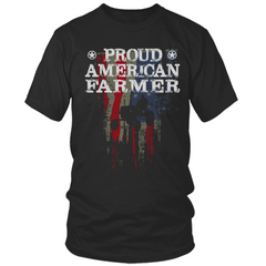 Proud American Farmer black t shirt