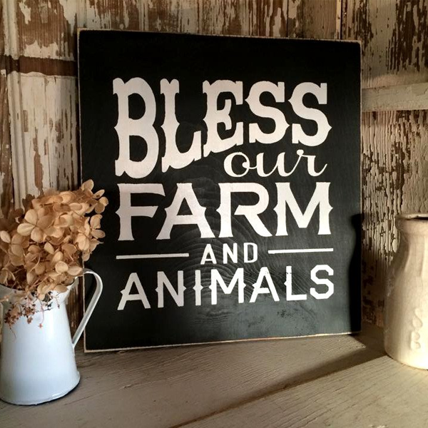 Bless Our Farm Wood Sign