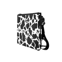 Cow Print Slim Clutch Bag Side View