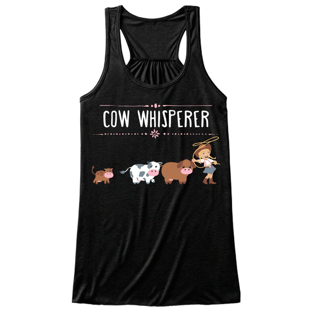 Cow Whisperer black tank top