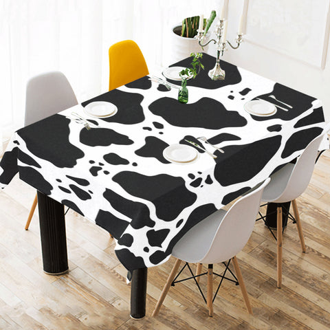 Cow Print Table Cloth lifestyle