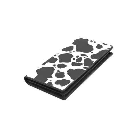 Cow Print Women's Leather Wallet Front
