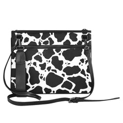 Cow Print Slim Clutch Bag Front