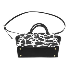Cow Print Classic Shoulder Handbag Bottom